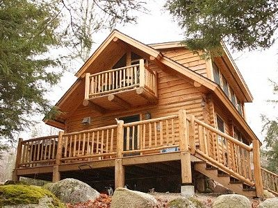Grill and sit at the log picnic table or coffee on the upper deck in the morning