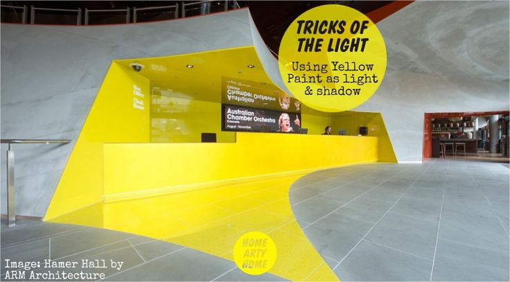 Tricks of the Light - Using Yellow Paint as Light & Shadow - @HomeArtyHome http://homeartyhome.com/tricks-light-using-yellow-paint-light-shadow/