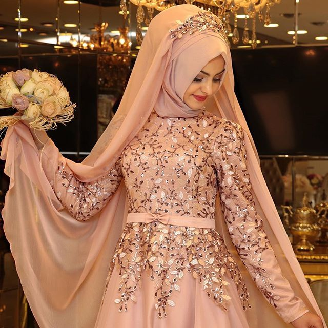 120+ Recent Collection Of Islamic Bridal Dresses With Hijab