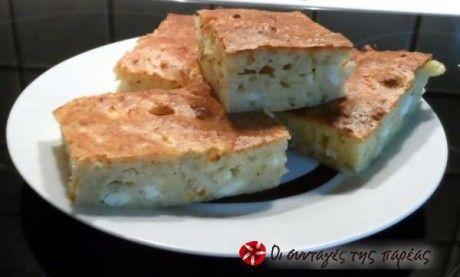 Εύκολη πίτα με τραχανά, χωρίς φύλλο
