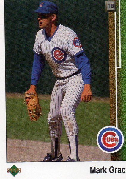 1988 Upper Deck Baseball Card Cubs Mark Grace