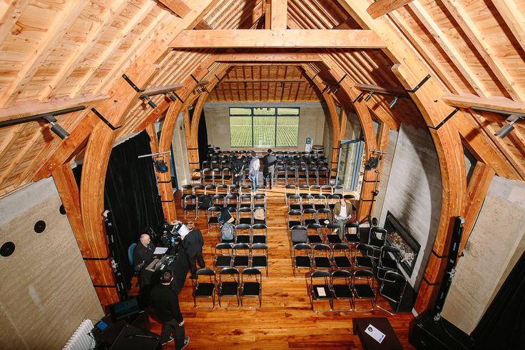 The Rippon Hall from above during a conference in Wanaka, NZ