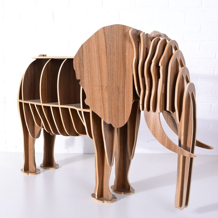 Animal Multi-Purpose Furniture DIY creative wood crafts elephant  table for household, clubs, theme restaurants,shops