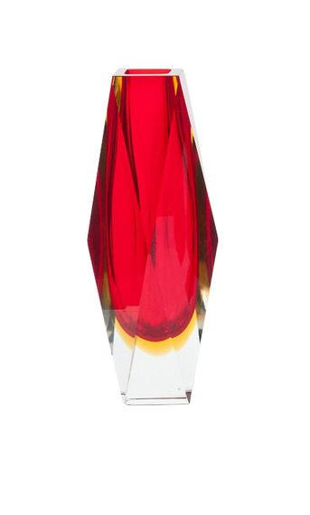 Murano Glass - have a collection of these multi faceted vases and bowls - stunning lit up