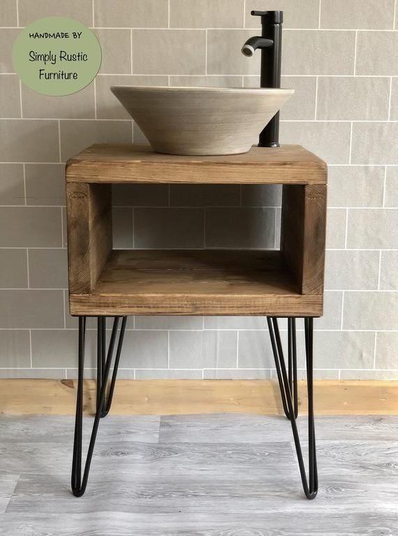 The Hairpin Wash Stand The Hairpin Wash Stand Is Hand Crafted At Our Workshop In The Jurassic Coast Of Purbec Wash Stand Wooden Vanity Rustic Bathroom Vanities