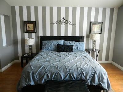tutorial with pictures on how to paint a striped wall - Bedroom Stripe Paint Ideas