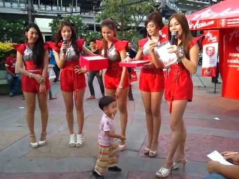 Sexy Air Asia Promo Girls @ BEC Tero Football Match in Thailand ...