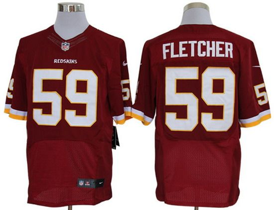 Nike Redskins #59 London Fletcher Red Team Color Mens NFL Elite Jersey