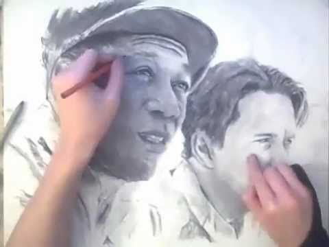▶ REESE CHARCOAL PORTRAIT - traditional art Speed Drawing - YouTube