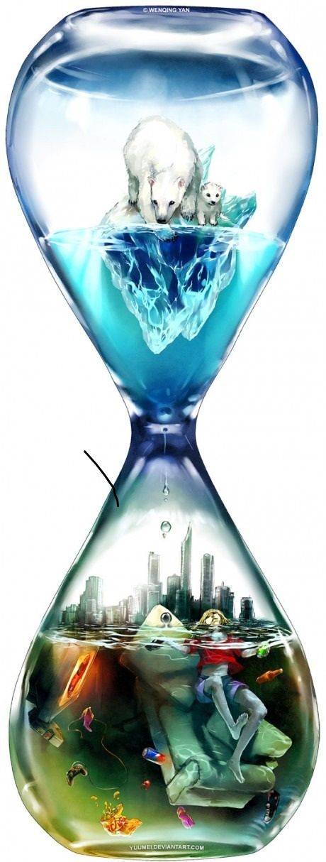 By Wenching Yan (http://yuumei.deviantart.com/) [click on image for a short analysis of the human cause of global warming]