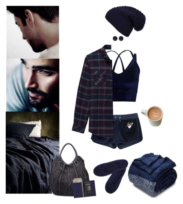 """""""Coming To Bed?"""" by blackmagicmomma ❤ liked on Polyvore featuring Juicy Couture, Miss Selfridge, a&R, Stoic, WithChic, Barefoot Dreams, Ariella Collection, Moda Luxe and Royce Leather"""