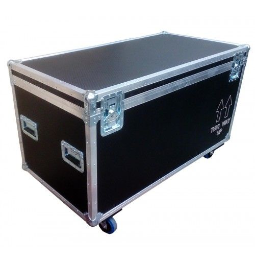 """Empty Road Trunk 1200mm x 610mm x 610mm, black, 9mm hexagrip witch engraving """"This Way Up"""" from Best Flight Cases"""