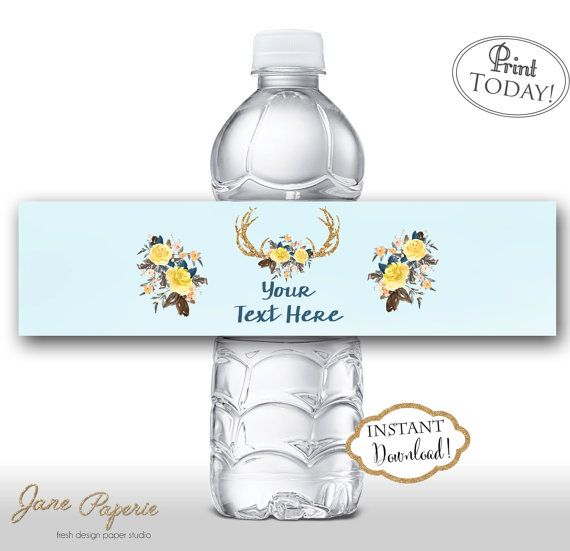 Best Food And Water Bottle Printable Labels By Jane Paperie