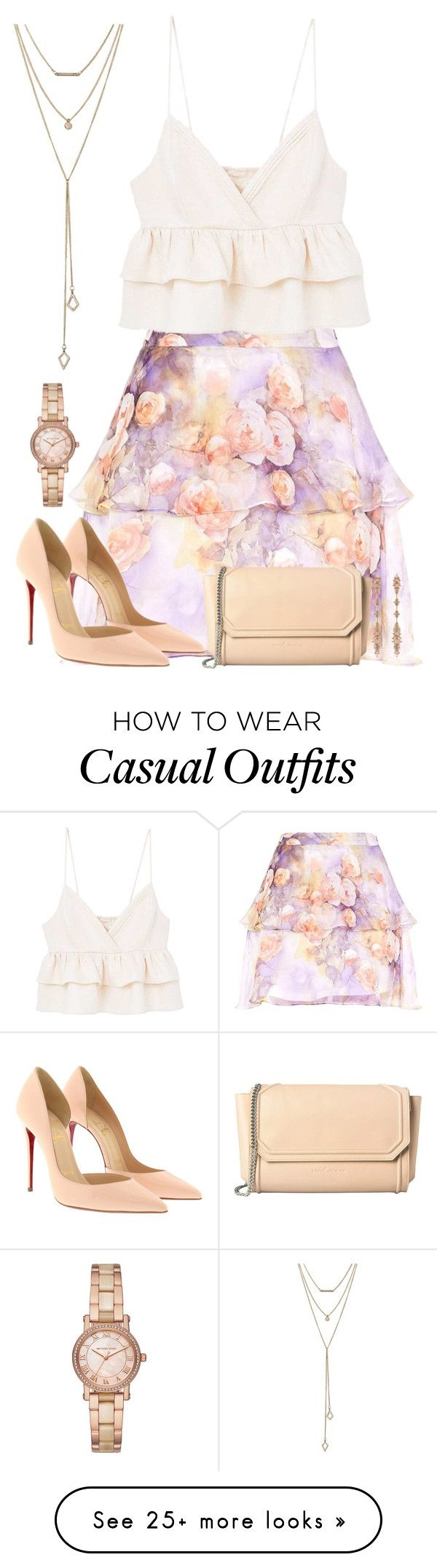 """""""Untitled #695"""" by victoriaam99 on Polyvore featuring MANGO, Christian Louboutin, Fernando Jorge, Michael Kors and SUGARFIX by BaubleBar"""