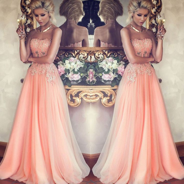 Charming Prom Dress,A Line Prom Dress,Tulle Prom Dress,Long