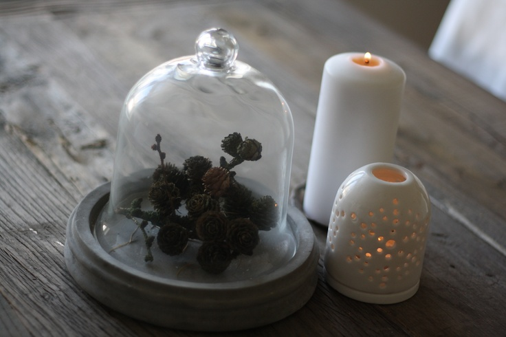 Pinecone and candlelights