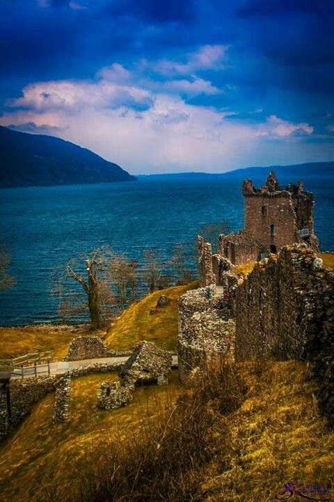 Urquhart Castle, which stands on the banks of Loch Ness.