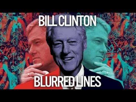 "Bill Clinton Sings ""Blurred Lines"" By Robin Thicke"