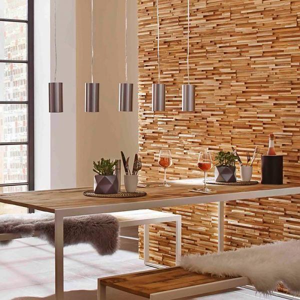 Plaquette De Parement Bois Recyclé Ultrawood Teak Colorado