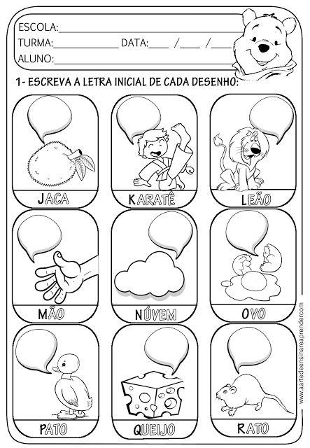 Atividade pronta - Alfabeto - Letra inicial