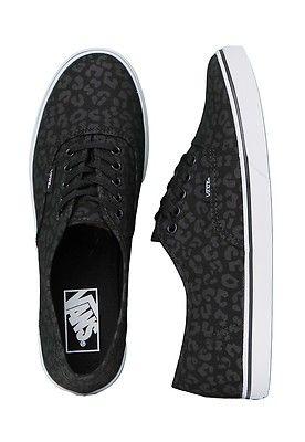 Vans Authentic Lo Pro Leopard Black Black Women's Skate Shoes..    My favorite sneakers