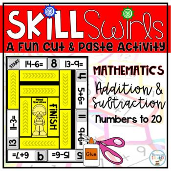 Skill Swirls are a fun way for students to practice their math facts and stay engaged during learning! This set includes addition and subtraction practice to 20! Skill Swirls can be used for early finishers, centers, or a fun assessment. The best part about these?