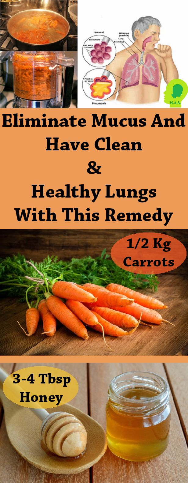 If you have a problem with mucus in your lungs, this remedy will take care of it.