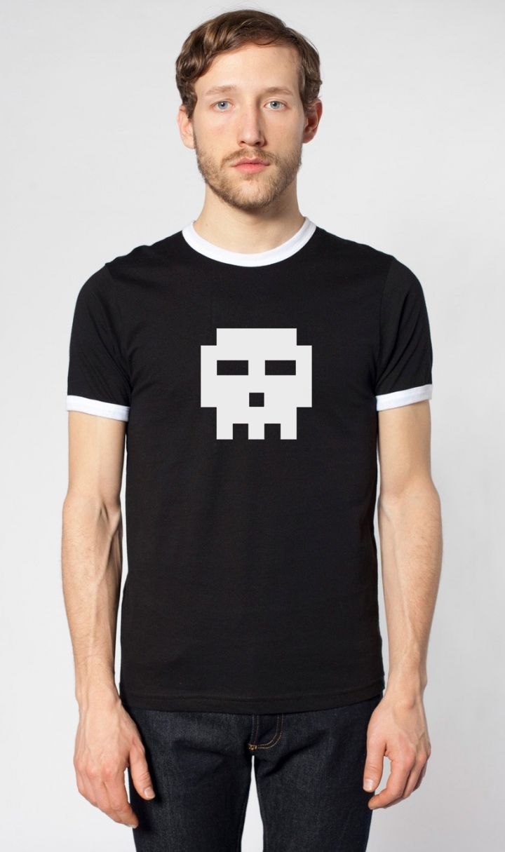 Scott Pilgrim '8-Bit Skull' T-shirt