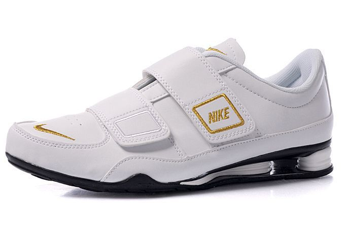 new style d938e 4b45d Nike Shox R3 Velcro Mens Running Shoes - WhiteGoldBlack  Mens Decorum  - Sartorial  Mens nike shox, Nike shox, Nike shoes cheap
