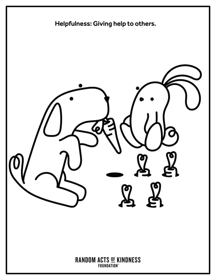 Random Acts of Kindness | Kindness Printables | Coloring ...