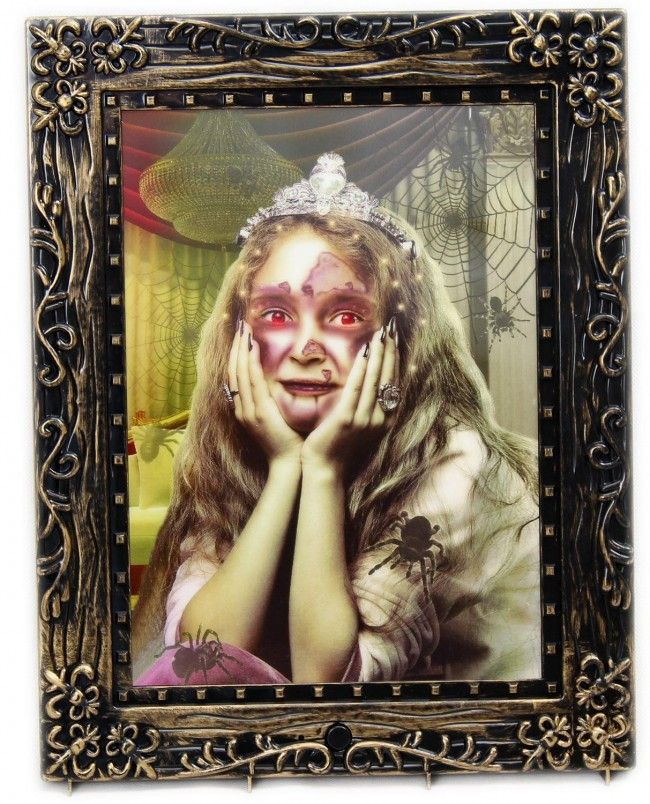 Haunted House Battery Operated Sound And Motion Activated Light Up Halloween Horror Portrait Picture