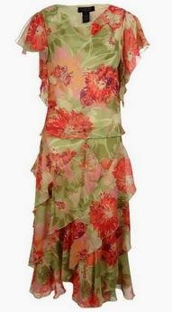 skirt and top set for women! Floral Chiffon Blouse with Skirt Clothing Set