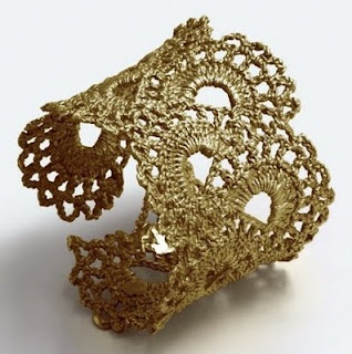 Crochet bracelete jóia croché crochê crochet
