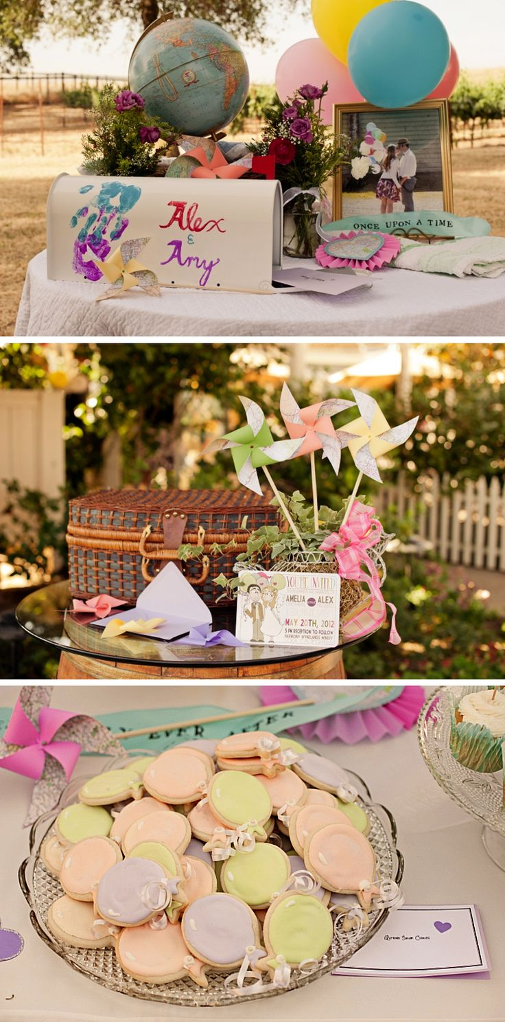 "Disney's ""Up"" wedding theme decor. What a perfect theme - the movie is adorable."