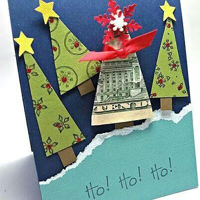 geldgeschenke zu weihnachten basteln grußkarte