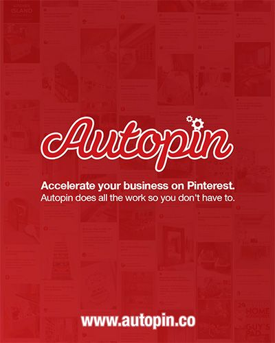 Accelerate your business on Pinterest. Try autopin.