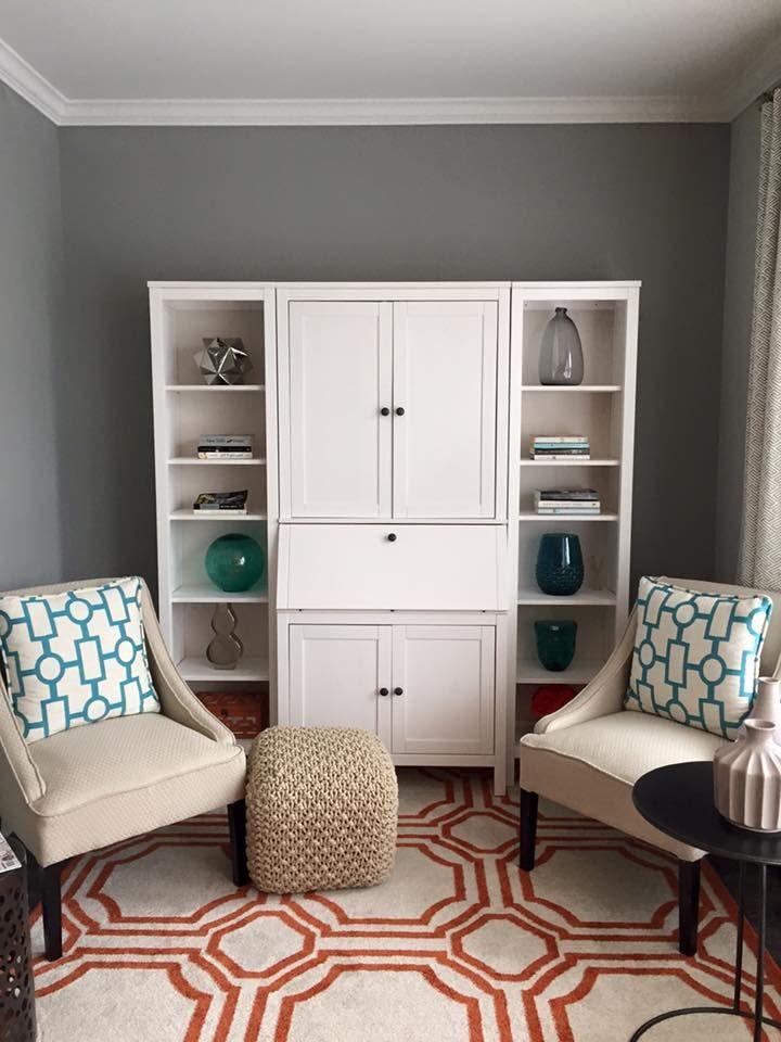 IKEA hemnes secretary desk with two shelves added on