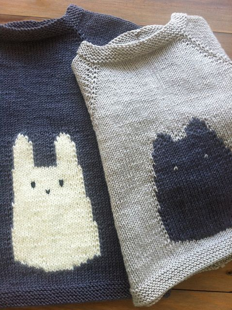 Rabbit Sweater Knitting Pattern : Fat kitty pattern by justine turner sweater patterns a