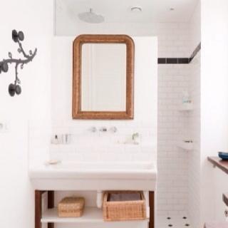 Bathroom: Decor, Ideas, Interior, Small Bathroom, Bathroom Idea, De Bain, White Bathroom, Room
