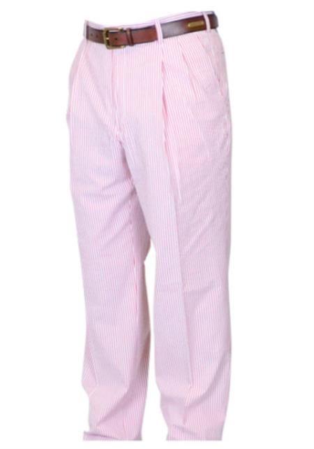 Rosado Sirsaca Vestir Pantalón