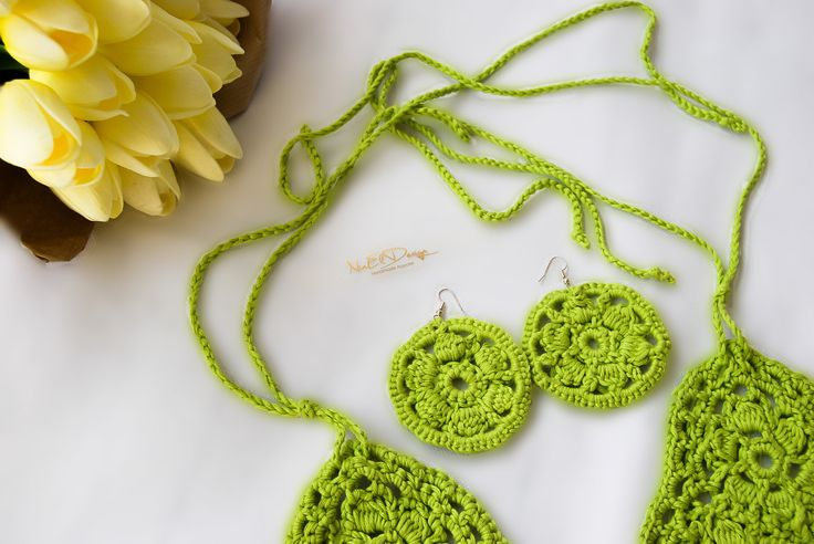 FREE SHIPPING withing the UK. Unique earrings. Jewelry. Drop erarings. Crochet earrings. Crochet jewelry. Handmade earrings. by NinElDesign on Etsy