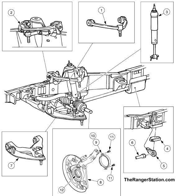 Ford Ranger Front Suspension Diagram