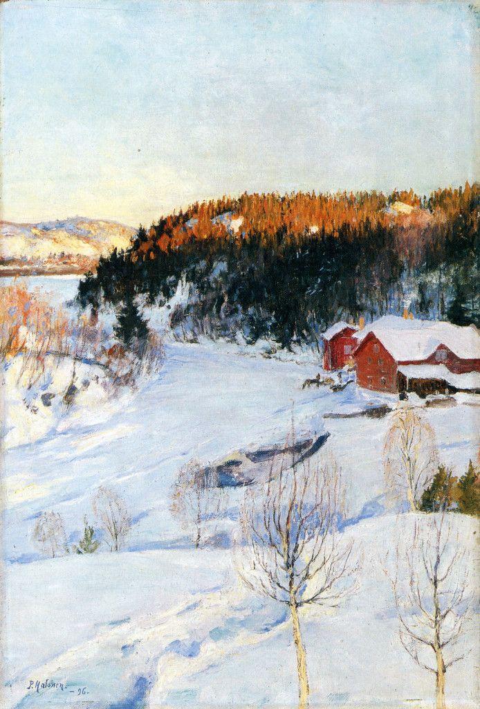 Pekka Halonen, Iltatunnelma, 1896, The Life and Art of Pekka Halonen - http://www.alternativefinland.com/art-pekka-halonen/