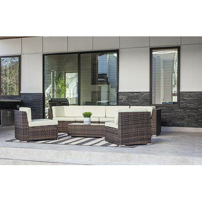 Design Tree Home 7 Piece Sectional Seating Group with Cushion