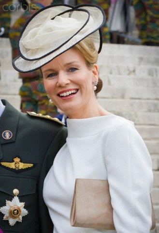 Princess Mathilde, July 21, 2012 in Fabienne Delvigne