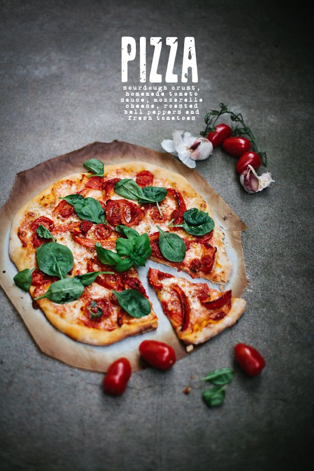 Sour dough pizza (recipe in Swedish and English)