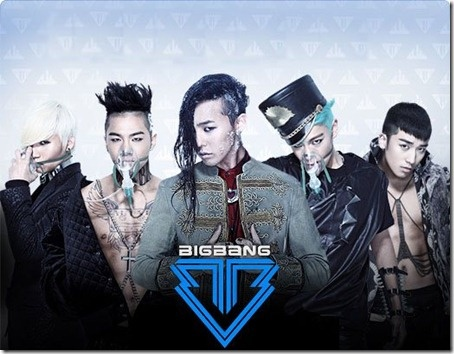 Big Bang album cover featuring the song Blue