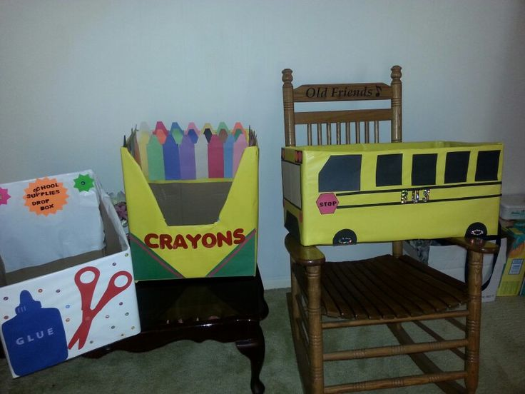I made these for church for our school supply drive! Im so proud of myself (sy)