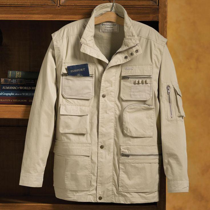64 best utility vest images on pinterest utility vest for Travel shirts with zipper pockets