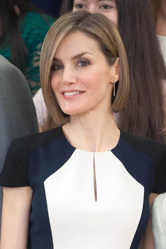 Queen Letizia of Spain, who recently got the chicest short haircut